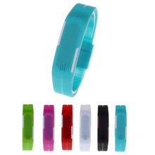 2015 Candy Color Ultra Thin Men Girl Sports Silicone Digital LED Sports Bracelet Wrist Watch