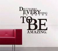Everything To Be Mazing Decorative Large Characters Wall Sticker Decal Mural Vinyl Wallpapers Home Decor