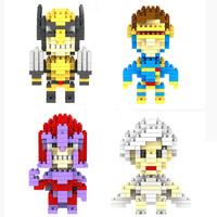 LOZ X-MEN Wolverine Storm Cyclops Magneto mini figure building Blocks Diamond bricks Toy Sets Child gift 4styles free shipping
