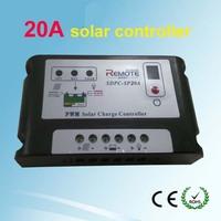 2014 20A amp 12V/24V Solar Panel battery Solar charge controller PV system Black