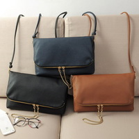 2015 New Women's Fashion Flod over Leather Handbags Lady's Messenger Bags Crossbody Shoulder bags Envelope Brand design