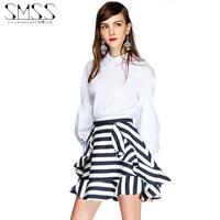 2015 Spring Summer fashion Chiffon Noble saias curtas femininas multi layer ruffle short women skirts womens saias femininas