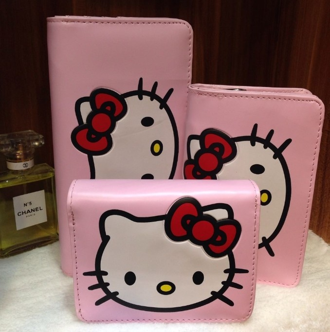 0 Ms. Long Wallet New HELLO KITTY cute cartoon kitty wallet women wallet(China (Mainland))
