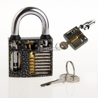 Perspective Practice Padlock Cutaway Inside View Lock for Training Locksmith Tools
