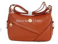 Free shipping new fashion leather bags korea new casual one shoulder retro messenger bags cross-body women handbag messenger bag