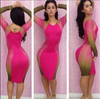 2014  hot models print dress sexy evening dress fashion hot models YH040