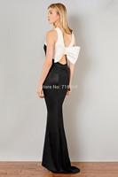 9342 new fashion bow strapless evening dress elegant fashion style nightclub