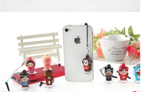 1000pcs/lot Silicon Cartoon Stand Holder Dustproof Plug for iPod iPhone Samsung iPhone,tablet pc,Mobile Phone Acessories