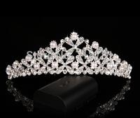 fashion queen style lady tiara bridal wedding crown girls jewelry party crystal rhinestone tiara for hair jewelry decoration !!