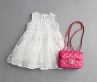 2015 Girl's summer sweet lace dress , baby girl dress , girl clothing , 5pcs/lot   MWQ03