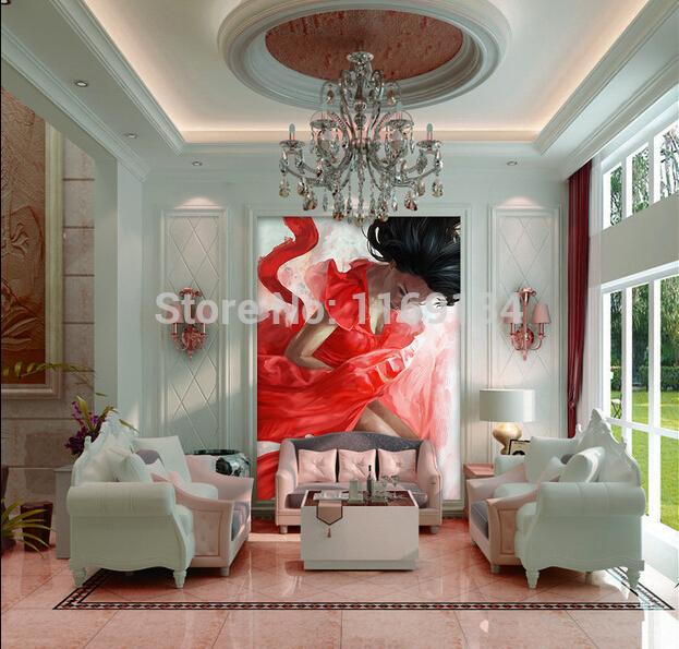 Online kopen wholesale meisje behang uit china meisje behang groothandel - Entree corridor decoratie ...