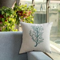 New design Home Decorative Sofa Cushion pillow cover Throw pillowcase 45*45cm dakimakura Cotton Linen Square green tree