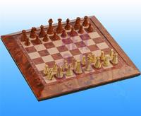 Brand New Magnetic Cherry Wood Imitation Chess Bord Set Game