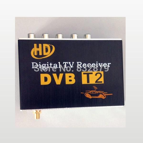 2014 New Free shipping DVB-T2H Car DVB-T2 DVB-T USB HDMI HDTV tuner 2 active antenna high speed(China (Mainland))