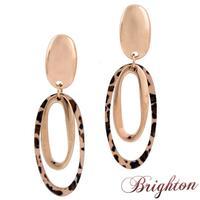 Occident Trendy Women Charm Leopard Print Statement Earrings Gold\Silver Plated Punk Rock Dangle Earrings Jewelry