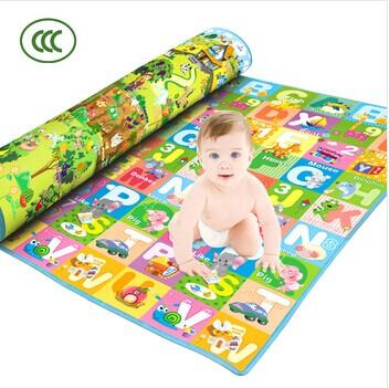 New Hot Baby Play Mat Educational Crawl Pad Puzzle Mat Play+Learning+Safety Mats Kids Climb Blanket 1.2x1.8m Game Carpet(China (Mainland))