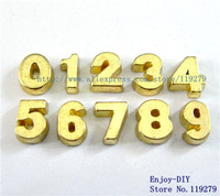 Free shipping gold plain number Floating charms DIY Accessory Fit for Floating charms Locket FC522
