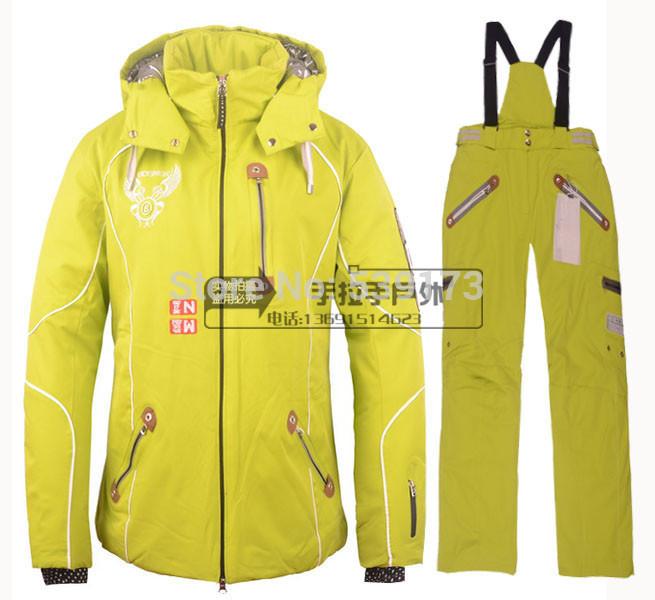 Snow Suit Women Suit Set,yellow Snow Suits