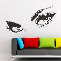150cm*80cm Creative Large Audrey Hepburn's Eyes Wall Decals Big Sticker Wallpapers Vinyl for Home Living Room Decor