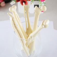 5pcs/lot Syringe Pen Writing Supplies Bone shape ballpoint pens Wholesale New creative gift school supply(China (Mainland))