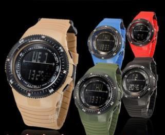 Omh оптовая продажа буле черный хаки альпинизм спорта на открытом воздухе часы водонепроницаемые многофункциональные мужчины цифровые часы SB11