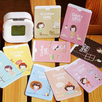 2015 New Korean Promotions Cute 2pcs Card credit holder card wallet Plastic material unisex free shipping 2 card slots Card Pack