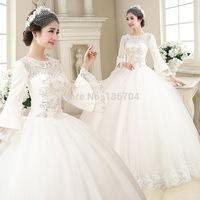 2015 spring wedding dress formal dress vintage lace long-sleeve bandage fashion 2182