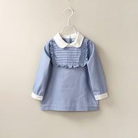 6pcs/lot  2015 NEW Children of European and American fungus lapels Princess s kids dress baby dress