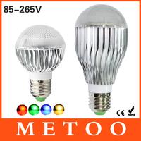 1pc RGB Led Bulb Light led E27 Dimmable 10W 15W AC 85-265V 110V/220V rgb Led Lamp + IR Wireless Remote Control Holiday Lighting