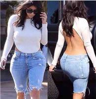 sexy white crop top blusas femininas t shirt women Backless t shirt sexy long sleeve woman clothes roupas femininas A1110
