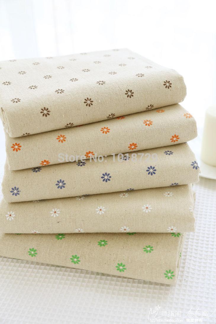 5pcs/lot Daisy Cherry Star style diy handmade 100% cotton fabric cloth for sofa fabric curtain table cloth fluid cloth 50x150cm(China (Mainland))