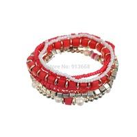 Red bracelet Strand Bracelet Bohemia Jewelry For Women Trendy High Quality Wrist Bracelet For women
