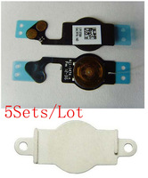 (5G509B05AM)(5Sets/Lot by AM DHL EMS)100% Top Quality Guarantee for iPhone 5 5G Flex Cable&Metal Cushion Holder