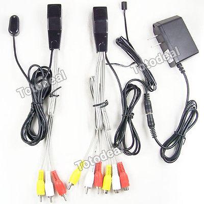 AV Video audio extender IR in repeater sender transmitter 1 input 2 output(China (Mainland))