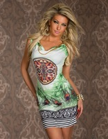 9019 new sexy leopard print dress beach printed dress casual summer party
