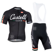 2015 new cycling clothing coffee / jerseys and shorts bib sets cycling jersey / shorts elastic