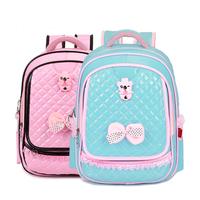 PU Leather Orthopedic Girls School Bag Bow Fashion Sweet Children School Backpack Lovely Bookbag Portfolio Satchel Women