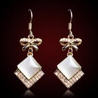 QMODE New Fashion Hot Sell 2015 Gold Earring For Women Austrian Crystal Earrings Long Tassel Earrings Wedding Jewelry