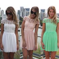 lace dress 2015 new arrival women summer dress sleeveless cute casual dresses Vestidos roupas femininas