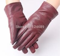 Free shipping Women's gloves winter cycling sheepskin gloves Women's leather gloves warm luvas autumn/winter 7192