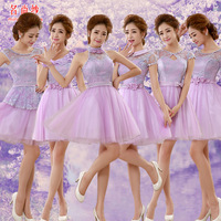 2015 short design formal dress the evening dress purple
