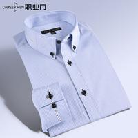 Autumn male 100% cotton unique stripe long-sleeve shirt fashion slim fashion men's clothing