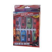 espada car styling 8 pcs Racing Cars Vehicle Play Set Toy Car Childrens Model Diecast Metal  86315 kids toys for children(China (Mainland))