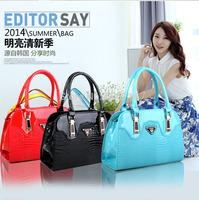 Retail Hot sale fashion lady hand bag Women casual alligator Bags Solid PU Leather Handbag All-match Handbags Street female Bags
