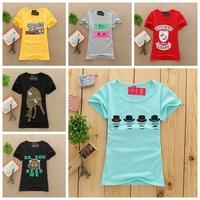 [Magic] 2015 newest colors tshirts women short sleeve casual t-shirt summer print tees cotton t shirt 21modes free shipping