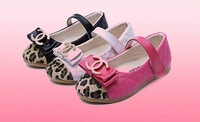 Girls Shoes Kids Baby Bow Shoes Child Sneaker Fashion Shoes Leopard Fur Flat Shoes Girls Princess Sandals Spring/Autumn