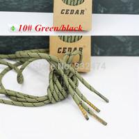 5 pairs 130~160cm length unisex Bicolour Round  Bootlaces Sneaker Hiking Shoe Laces Climbing Shoelaces Strings 12 colors