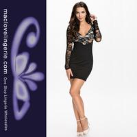 сексуальная печати мини-платья половину длинные летние платья vestidos чистый кружева клуб партии