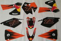 KTM 125 3M GRAPHICS DECAL STICKER kit for moto motorcycle dirt pit bike parts KTM125 kt002