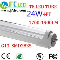25pcs Wholesale SMD 2835 10W 20W 24w 0.6m 0.9m 1.2m LED tube light fluorescent lamp T8 G13 85-265V 2000lm 1.2M 4 feet ft tubes